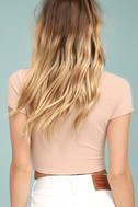 Project Social T Sparrow Blush Pink Crop Top 3