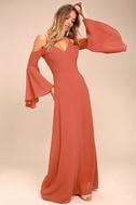 Glamorous Greeting Rusty Rose Maxi Dress 2