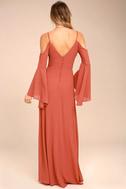 Glamorous Greeting Rusty Rose Maxi Dress 3