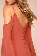 Glamorous Greeting Rusty Rose Maxi Dress 4
