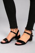 Lila Grace Black High Heel Sandals 4