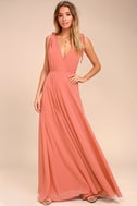 Dance the Night Away Rusty Rose Backless Maxi Dress 2