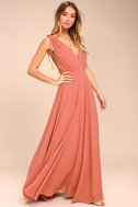 Dance the Night Away Rusty Rose Backless Maxi Dress 3