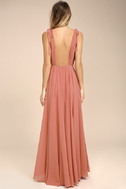 Dance the Night Away Rusty Rose Backless Maxi Dress 4