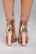 Angela Rose Gold Lace-Up Heels 3