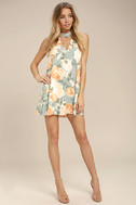 Part of Your World Dusty Sage Floral Print Swing Dress 2