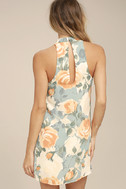 Part of Your World Dusty Sage Floral Print Swing Dress 3