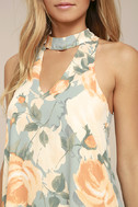 Part of Your World Dusty Sage Floral Print Swing Dress 4