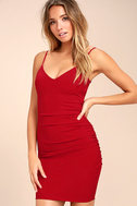 Au Courant Red Bodycon Dress 1