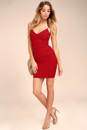 Au Courant Red Bodycon Dress 2