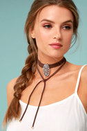Mojave Magic Gold and Brown Rhinestone Wrap Necklace 4