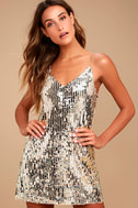 Shine Art Silver Sequin Mini Dress 2