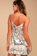 Shine Art Silver Sequin Mini Dress 3