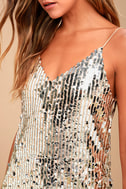 Shine Art Silver Sequin Mini Dress 4