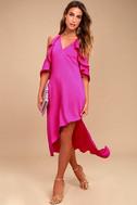 Adelyn Rae Oliana Magenta Midi Dress 1
