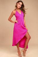 Adelyn Rae Oliana Magenta Midi Dress 4