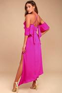 Adelyn Rae Oliana Magenta Midi Dress 2