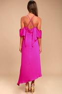Adelyn Rae Oliana Magenta Midi Dress 3