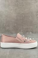 Steve Madden Glade Blush Satin Slip-On Sneakers 2