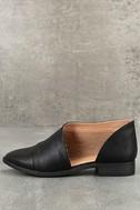 Karmen Black D'Orsay Pointed Toe Booties 1