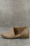 Karmen Taupe D'Orsay Pointed Toe Booties 1
