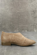 Karmen Taupe D'Orsay Pointed Toe Booties 2