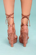 Macy Dusty Pink Lace-Up Wedges 3