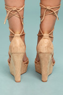 Macy Nude Lace-Up Wedges 3