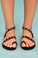 Alexi Black Studded Star Sandals 2