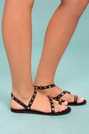 Alexi Black Studded Star Sandals 3
