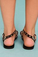Alexi Black Studded Star Sandals 4