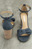 Report Pearlina Blue Ankle Strap Heels 3