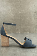 Report Pearlina Blue Ankle Strap Heels 2