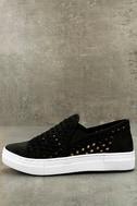 Seychelles Latest Black Leather Slip-On Sneakers 1