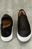Seychelles Latest Black Leather Slip-On Sneakers 3