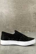 Seychelles Latest Black Leather Slip-On Sneakers 2
