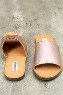 Steve Madden Grace Rose Gold Leather Slide Sandals 3