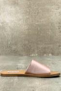 Steve Madden Grace Rose Gold Leather Slide Sandals 2