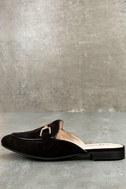 Eliza Black Loafer Slides 1