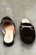 Eliza Black Loafer Slides 3