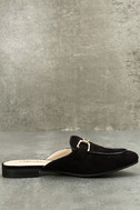 Eliza Black Loafer Slides 2