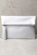 Go Girl Silver Clutch 1