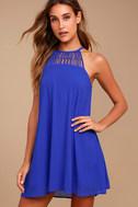 Tell Me Royal Blue Swing Dress 2