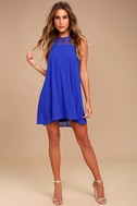 Tell Me Royal Blue Swing Dress 1