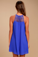 Tell Me Royal Blue Swing Dress 3