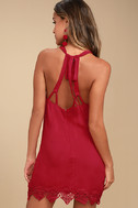 On the Terrace Red Halter Dress 3
