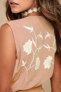 Playful Petals Blush Pink Embroidered Romper 4