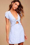 Seaport Blue and White Striped Dress 2