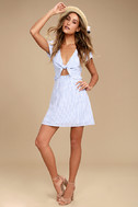 Seaport Blue and White Striped Dress 1