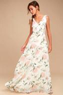 Romantic Possibilities White Floral Print Maxi Dress 1